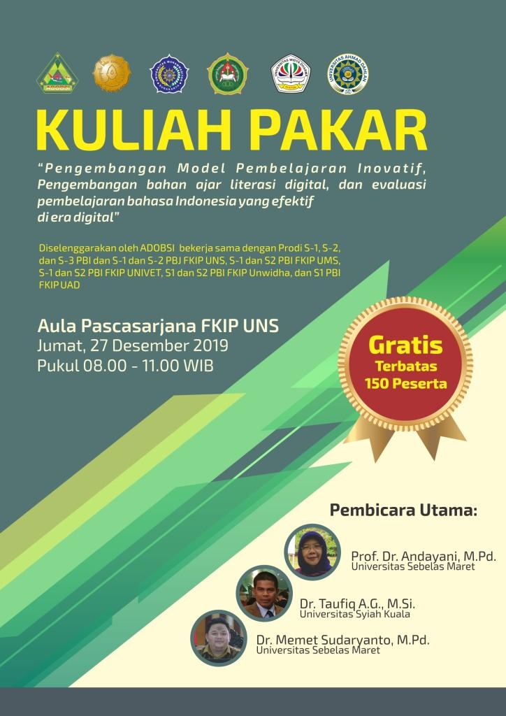 Poster Kuliah Pakar Pasca 2019